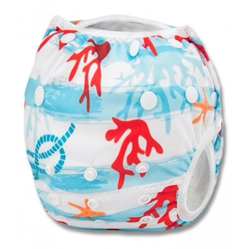 SW014 Starfish And Coral Swim Nappy