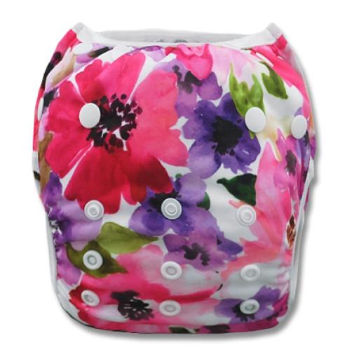 XL: Floral Watercolor Swim Nappy
