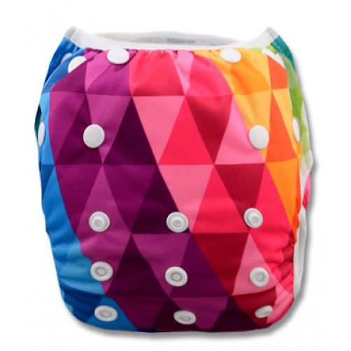 SW018 Multicolour Triangle Pattern Swim Nappy