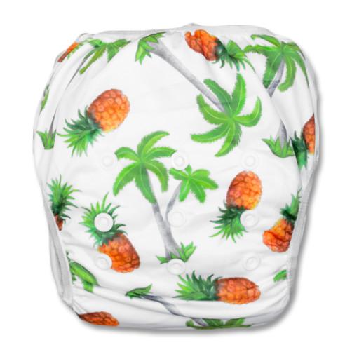 SW020 Pineapples & Palm Trees Swim Nappy