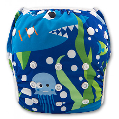 SW022 Shark Tale Swim Nappy