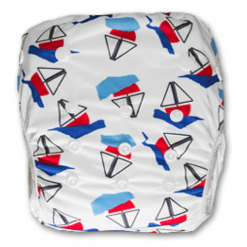 SW024 Blue Red Yachts Swim Nappy