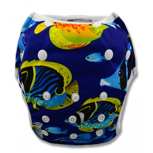 SW026 Blue & Yellow Aquarium Fish Swim Nappy