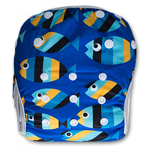 SW027 Striped Fish Swim Nappy