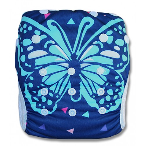SW033 Navy Butterfly Swim Nappy