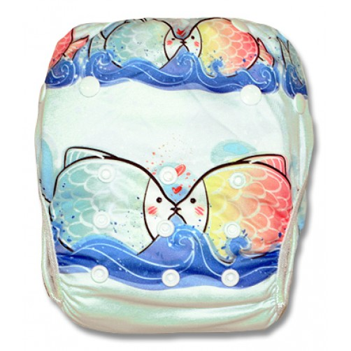 SW037 Kissing Fish Swim Nappy