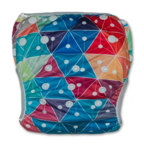 SW045 MultiColor Triangles Swim Nappy