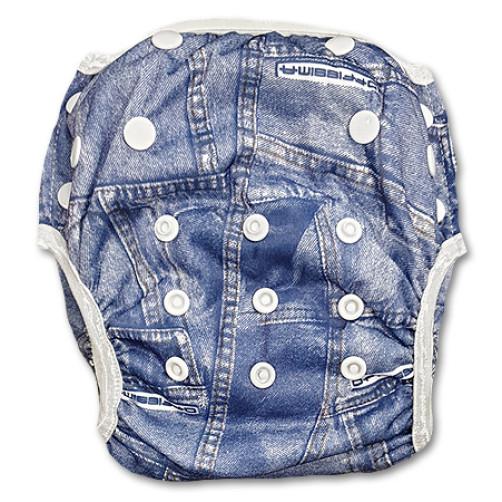 XL: Denim Jeans Swim Nappy