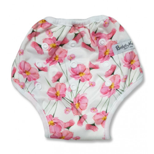 White with Pink Blossoms Training Pants