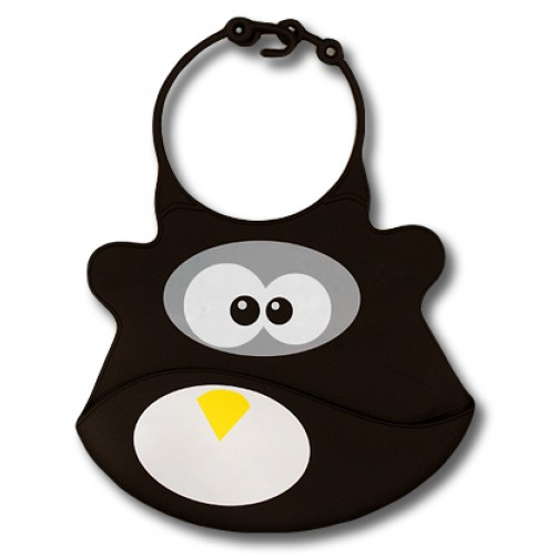 Skipper the Penguin Silicone Bib