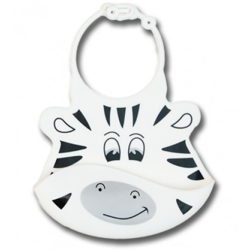 Marty the Zebra Silicone Bib