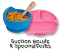 Silicone Suction Bowls & Spoons